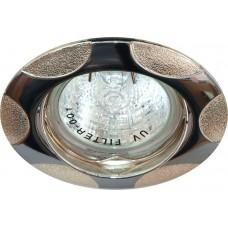 Светильник встраиваемый 156T-MR16 потолочный MR16 G5.3 хром-серебро 17768