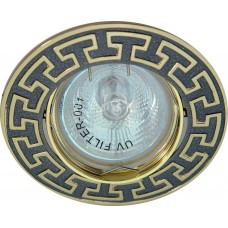 Светильник встраиваемый 2008DL потолочный MR16 G5.3 черный металлик-золото 17808