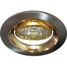 Светильник встраиваемый 2009DL потолочный MR16 G5.3 титан-золото 17831