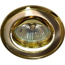 Светильник встраиваемый 301T-MR16 потолочный MR16 G5.3 титан-золото 17534