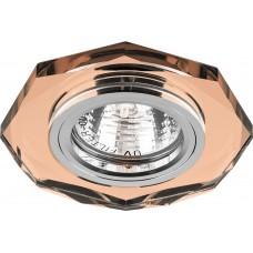 Светильник встраиваемый 8020-2 потолочный MR16 G5.3 коричневый 19707