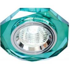 Светильник встраиваемый 8020-2 потолочный MR16 G5.3 зеленый 19706