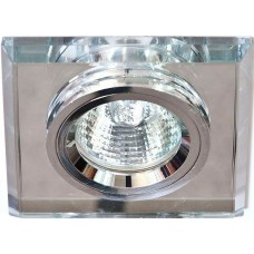 Светильник встраиваемый 8170-2 потолочный MR16 G5.3 серебристый 19719