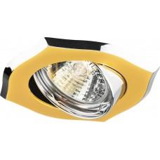 Светильник встраиваемый A246 потолочный MR16 G5.3 золото-хром 17735