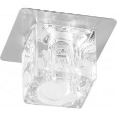 Светильник встраиваемый BS 125-FB потолочный JCD G9 прозрачный, титан 18748