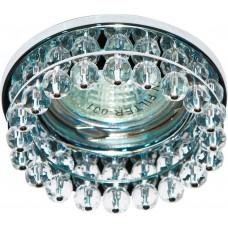 Светильник встраиваемый CD2130 потолочный MR16 G5.3 прозрачный, хром 18768