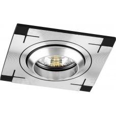 Светильник встраиваемый CD2330 потолочный MR16 G5.3 черный-алюминий 18629