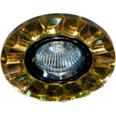 Светильник встраиваемый CD2510 потолочный MR16 G5.3 желтый, хром 19175