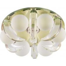 Светильник встраиваемый CD2530 потолочный JСD9 G9 прозрачный-желтый 18791