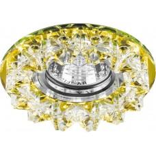 Светильник встраиваемый CD2542 потолочный MR16 G5.3 желтый, хром 18930