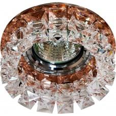 Светильник встраиваемый CD2929 потолочный MR16 G5.3 коричневый-прозрачный 28418