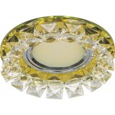 Светильник встраиваемый CD2929 потолочный MR16 G5.3 желтый-прозрачный 28419