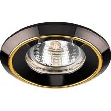 Светильник встраиваемый DL1023 потолочный MR16 G5.3 черный-золото 20141