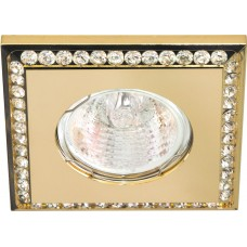 Светильник встраиваемый DL102-C потолочный MR16 G5.3 золотистый 28374