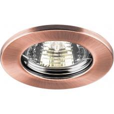 Светильник встраиваемый DL10 потолочный MR16 G5.3 античная медь 15207
