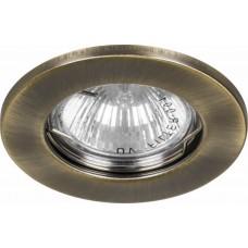 Светильник встраиваемый DL10 потолочный MR16 G5.3 античное золото 15206
