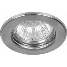 Светильник встраиваемый DL10 потолочный MR16 G5.3 серебристый 15111