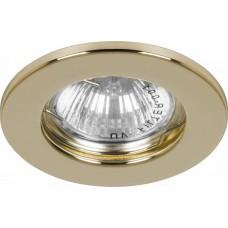 Светильник встраиваемый DL10 потолочный MR16 G5.3 золотистый 15110