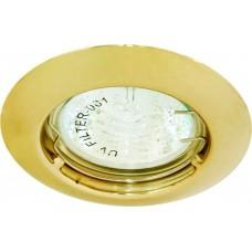Светильник встраиваемый DL110A потолочный MR11 G4.0 золотистый 15006