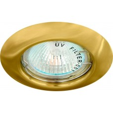 Светильник встраиваемый DL13 потолочный MR16 G5.3 золотистый 15127