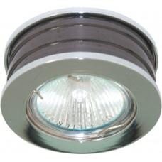 Светильник встраиваемый DL153 потолочный MR16 G5.3 хром-черный 28166