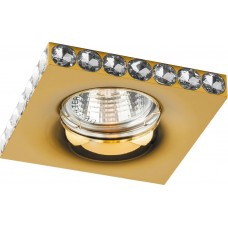 Светильник встраиваемый DL202-C потолочный MR16 G5.3 золотистый 28470