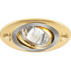 Светильник встраиваемый DL250 потолочный MR16 G5.3 титан-золото 17907