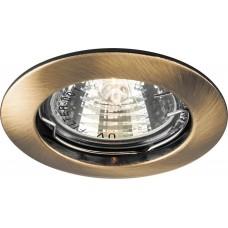 Светильник встраиваемый DL307 потолочный MR16 G5.3 античное золото 15210