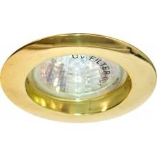 Светильник встраиваемый DL307 потолочный MR16 G5.3 золотистый 15010