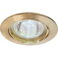 Светильник встраиваемый DL308 потолочный MR16 G5.3 золотистый 15068
