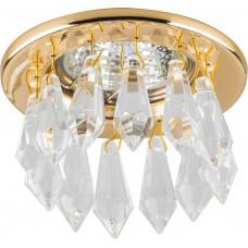 Светильник встраиваемый DL4160 потолочный MR16 G5.3 прозрачно-золотистый 17272