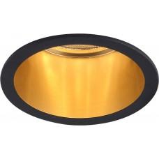 Светильник встраиваемый DL6003 потолочный MR16 G5.3 черный, золото 29731