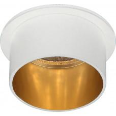 Светильник встраиваемый DL6005 потолочный MR16 G5.3 белый, золото 29734
