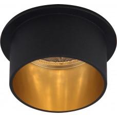 Светильник встраиваемый DL6005 потолочный MR16 G5.3 черный, золото 29733