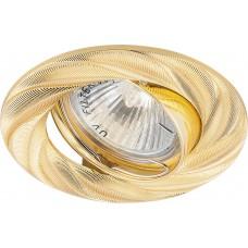 Светильник встраиваемый DL6027 потолочный MR16 G5.3 золото поворотный 28874