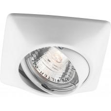 Светильник встраиваемый DL6046 потолочный MR16 G5.3 белый поворотный 28882