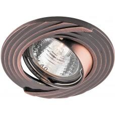 Светильник встраиваемый DL6227 потолочный MR16 G5.3 античная медь поворотный 28962