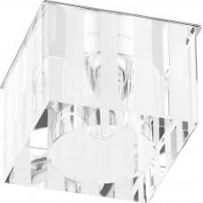 Светильник встраиваемый DL-174 потолочный JCD9 G9 прозрачно-матовый 18883