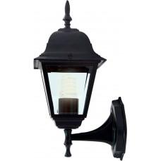 Светильник садово-парковый 4101 четырехгранный на стену вверх 60W E27 230V, черный 11014