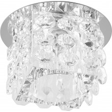 Светильник встраиваемый JD58 потолочный JCD9 G9 прозрачный, хром 18831