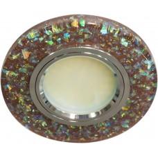 Светильник встраиваемый с белой LED подсветкой 8585-2 потолочный MR16 G5.3 коричневый
