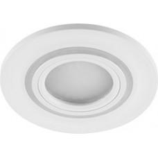 Светильник встраиваемый с белой LED подсветкой CD600 потолочный MR16 G5.3, белый