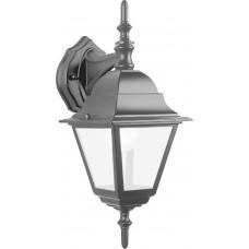 Светильник садово-парковый 4102 четырехгранный на стену вниз 60W E27 230V, черный 11016