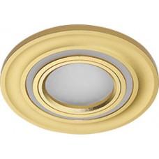 Светильник встраиваемый с белой LED подсветкой CD600 потолочный MR16 G5.3 золото