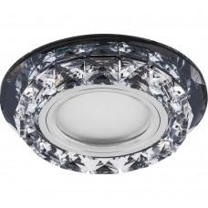 Светильник встраиваемый с белой LED подсветкой CD878 потолочный MR16 G5.3 черный