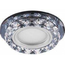 Светильник встраиваемый с белой LED подсветкой CD878 потолочный MR16 G5.3 прозрачный