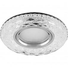 Светильник встраиваемый с белой LED подсветкой CD879 потолочный MR16 G5.3 прозрачный