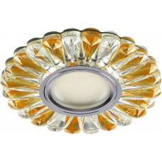 Светильник встраиваемый с белой LED подсветкой CD901 потолочный MR16 G5.3 прозрачный-коричневый