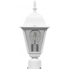 Светильник садово-парковый 4103 четырехгранный на столб 60W E27 230V, белый 11017