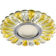 Светильник встраиваемый с белой LED подсветкой CD901 потолочный MR16 G5.3 прозрачный-желтый